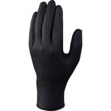Guanti monouso Delta Plus Venitactyl nero nitrile non talcato taglia 9/10 Conf. 100 pezzi - V1450B10009
