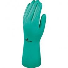 Guanto da lavoro Delta Plus Nitrile floccato cotone 33 cm verde taglia 10 - VE801VE10