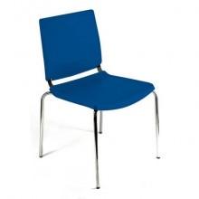 Sedia comunità a 4 gambe Unisit Atenea ATS - PPL blu - ATS/BL