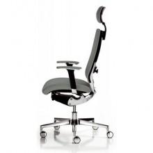 Sedia semidirezionale girevole Unisit Concept COTPG ergonomica con poggiatesta rivestimento fili luce grigio COTPG/F14