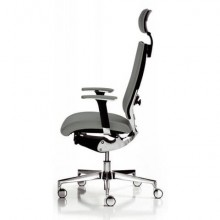 Sedia semidirezionale girevole Unisit Concept COTPG ergonomica con poggiatesta rivestimento similpelle grigio COTPG/KG