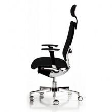 Sedia semidirezionale girevole Unisit Concept COTPG ergonomica con poggiatesta rivestimento pelle nero - COTPG/PN