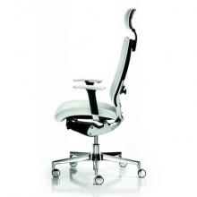 Sedia semidirezionale girevole Unisit Concept COTPG ergonomica con poggiatesta rivestimento pelle bianco - COTPG/PQ