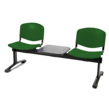 Panca 2 posti attesa Unisit Dado D52PT con tavolino - rivestimento Eco verde - D52PT/EV