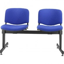 Panca 2 posti attesa Unisit Dado D52PT con tavolino - rivestimento ignifugo blu - D52PT/IB