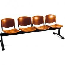 Panca 4 posti attesa Unisit Dado D54P - rivestimento Eco arancione D54P/EA
