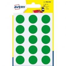 Etichette rotonde colorate AVERY verde Ø 19 mm 6 fogli - PSA19V