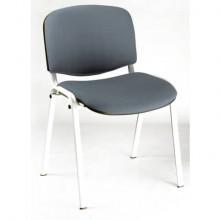 Sedia visitatore 4 gambe Unisit Dado D5B acciaio bianco - rivestimento eco grigio scuro - Conf. 2 pezzi - D5B/2/ET