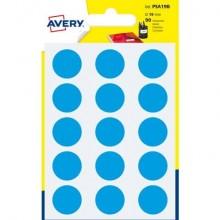 Etichette rotonde colorate AVERY blu Ø 19 mm 6 fogli - PSA19B
