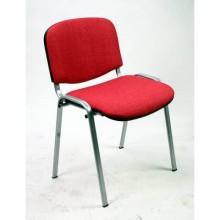 Sedia visitatore 4 gambe Unisit Dado D5C acciaio cromato - rivestimento eco rosso - Conf. 2 pezzi - D5C/2/ER