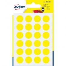 Etichette rotonde colorate AVERY giallo Ø 15 mm 7 fogli - PSA15J
