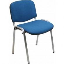 Sedia visitatore 4 gambe Unisit Dado D5G acciaio grigio - rivestimento eco blu - Conf. 2 pezzi - D5G/2/EB