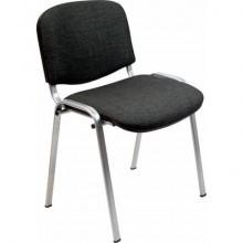 Sedia visitatore 4 gambe Unisit Dado D5G acciaio grigio - rivestimento eco nero - Conf. 2 pezzi - D5G/2/EN