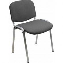 Sedia visitatore 4 gambe Unisit Dado D5G acciaio grigio - rivestimento eco grigio scuro - Conf. 2 pezzi - D5G/2/ET