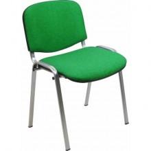 Sedia visitatore 4 gambe Unisit Dado D5G acciaio grigio - rivestimento eco verde - Conf. 2 pezzi - D5G/2/EV