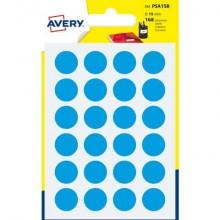 Etichette rotonde colorate AVERY blu Ø 15 mm 7 fogli - PSA15B