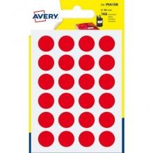 Etichette rotonde colorate AVERY rosso Ø 15 mm 7 fogli - PSA15R