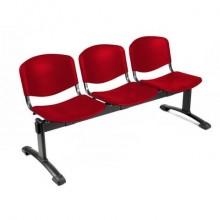 Panca 3 posti attesa Unisit Dado D5P3P - PPL rosso D5P3P/RO