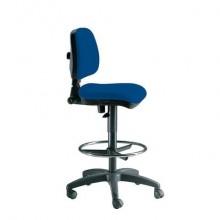 Sgabello tecnico Unisit Esos EO0 seduta alta - poggiapiedi telescopico - rivestimento Eco blu - EO0/EB