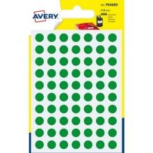 Etichette rotonde colorate AVERY verde Ø 8 mm 7 fogli - PSA08V