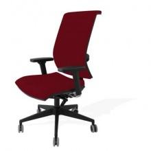 Sedia semidirezionale girevole Unisit Galatea GTJE schienale in rete - rivest. ignifugo bordeaux + braccioli GTJE/BR/ID