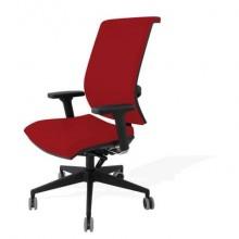 Sedia semidirezionale girevole Unisit Galatea GTJE schienale in rete - rivest. ignifugo rosso - GTJE/IR
