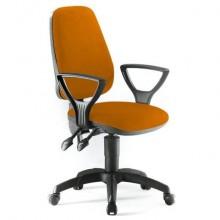 Sedia operativa girevole Unisit Leda LDAY Eco smart - schienale alto - rivestimento Eco arancione - LDAY/EA