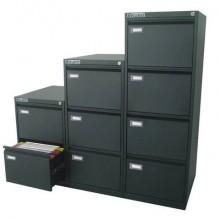 Classificatore per cartelle sospese KUBO 4 cassetti 46x62x132 cm nero 4104