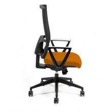 Sedia operativa girevole Unisit Nereide NDAE schienale in rete - rivestimento Eco arancione - NDAE/EA