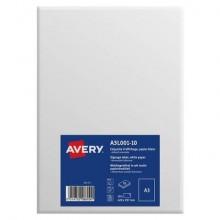 Etichette rimovibili Avery A3 bianco in carta opaca 1 et./foglio Conf. 10 fogli - A3L001-10