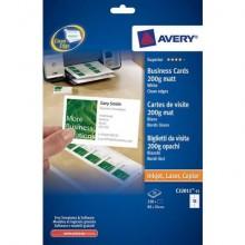 Biglietti da visita personalizzabili Avery 200 g/m² 85x54mm 10 et./foglio Conf. 25 fogli - C32011-25