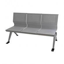 Panca 3 posti attesa Unisit Panair PA3P acciaio verniciato grigio - schienale forato traspirante - PA3P