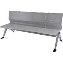 Panca 4 posti attesa Unisit Panair PA4P acciaio verniciato grigio - schienale forato traspirante - PA4P