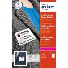 Badge adesivi in seta acetata AVERY 80 x 50mm 20 fogli - L4785-20