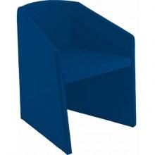 Sedia visitatore Unisit Smog SG1 - base trapezoidale struttura schiumato freddo rivestimento ignifugo blu - SG1/IB
