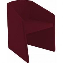 Sedia visitatore Unisit Smog SG1 - base trapezoidale struttura schiumato freddo rivestimento ignifugo bordeaux - SG1/ID