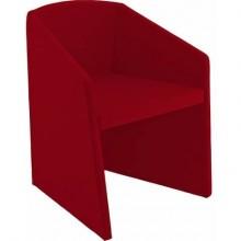 Sedia visitatore Unisit Smog SG1 - base trapezoidale struttura schiumato freddo rivestimento ignifugo rosso - SG1/IR