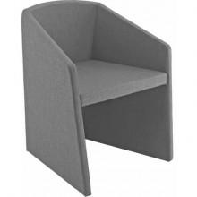 Sedia visitatore Unisit Smog SG1 - base trapezoidale struttura schiumato freddo rivestimento ignifugo grigio - SG1/IT