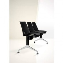 Panca 4 posti attesa Unisit Strike SK4PT con tavolino - schienale fisso - PPL nero - SK4PT/NE