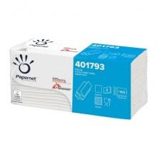 Asciugamano intercalato Papernet 23,5x23 cm piegato a Z - 2 veli fascetta 143 fogli - 401793 (Conf.20)