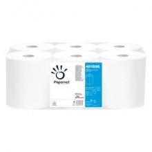 Asciugamani in Rotolo a devolgimento Papernet - 450 strappi - 2 veli - 29,7x30,5 cm - Conf. 6 pezzi - 401596