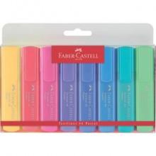 Evidenziatori Faber-Castell Textliner 46 Refill 1-2-5 mm assortiti pastel Conf. 8 pezzi - 154609