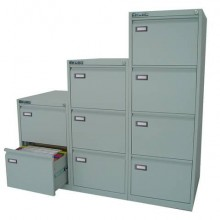 Classificatore per cartelle sospese KUBO 3 cassetti  46x62x101 cm grigio 4003