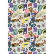 Carta da regalo Kartos Everyday 70x100 cm mod. Francobolli Conf. 10 fogli - 18835900B10
