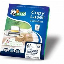 Etichette bianche con angoli arrotondati TICO Copy Laser Premium 200x142 mm 100 fogli - LP4W-200142