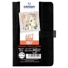 Sketchbook da disegno Canson Art Book 180° 8,9x14 cm - 80 fogli C200006459