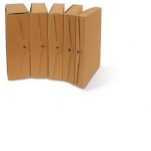 Scatola portaprogetti con bottone in cartone EURO-CART 35x25 cm dorso 15 cm FMC XCPECO15AV (Conf.5)