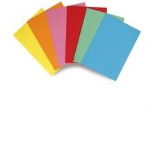 Cartelline semplici EURO-CART cartoncino calandrato 24,5x34 cm giallo conf. 6 pezzi - XCM01FGI/6