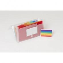 Classificatore Crystal Colours 14x26 cm - 7 scomparti - cristallo 55398E
