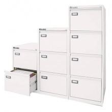 Classificatore per cartelle sospese KUBO 2 cassetti 46x62x70 cm bianco 4302
